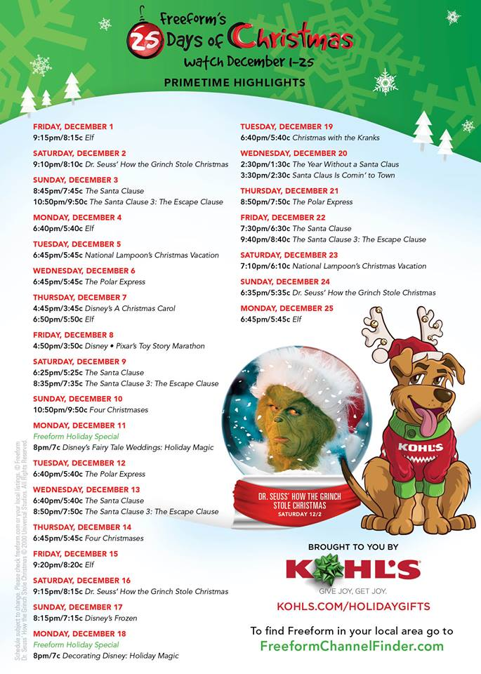 25 days of christmas freeform - How Many Days Of Christmas