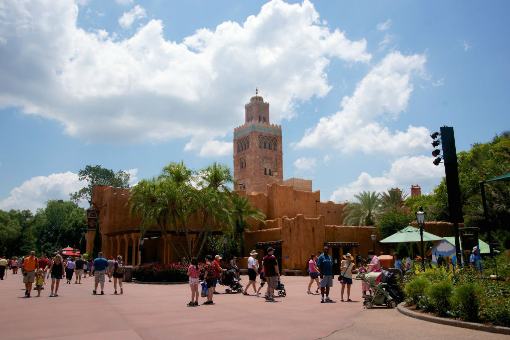 The arrival to Epcot's Morocco is quite spectacular.