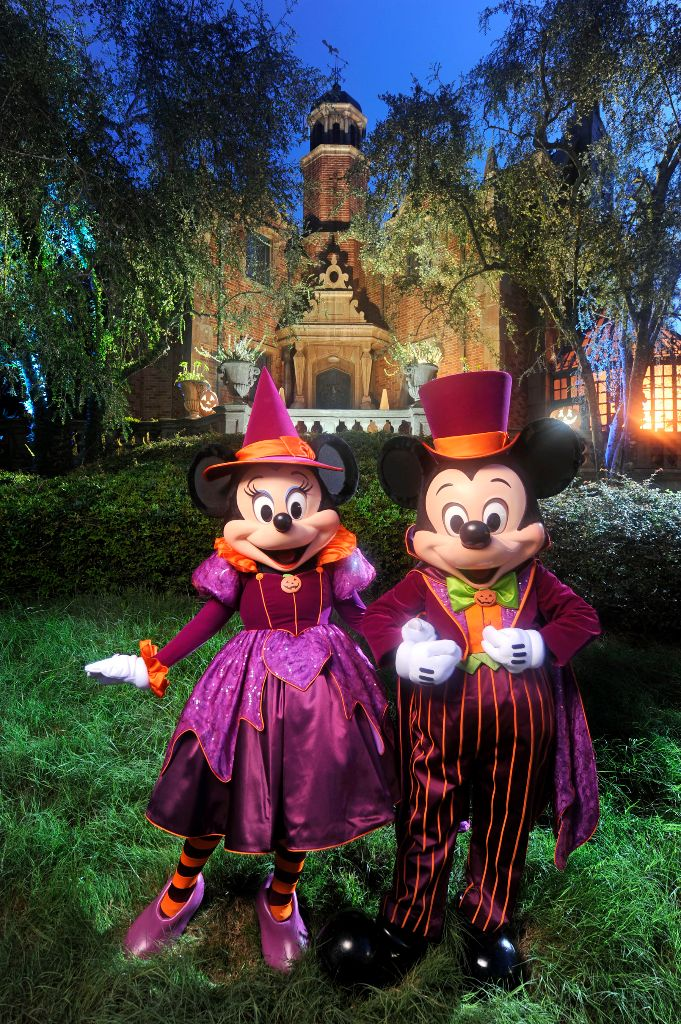 "Mickey and Minnie decked out for ""Mickey's Not-So-Scary Halloween Party"""