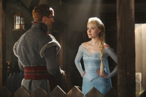 Things seem a little...chilly between Kristoff and Elsa.