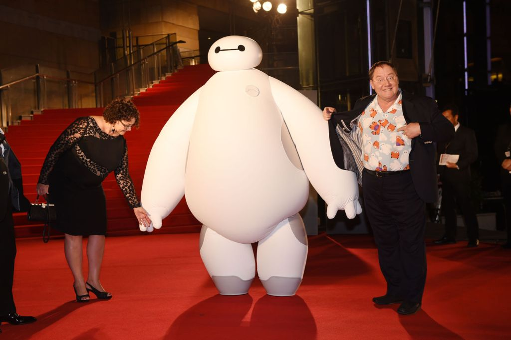 "Nancy Lasseter and Chief Creative Officer of Walt Disney and Pixar Animation Studios - John Lasseter arrive at the ""Big Hero 6"" Japan premiere during the 27th Tokyo International Film Festival at Roppongi Hills on October 23, 2014 in Tokyo, Japan.  (Photo by Atsushi Tomura/Getty Images for Disney)"