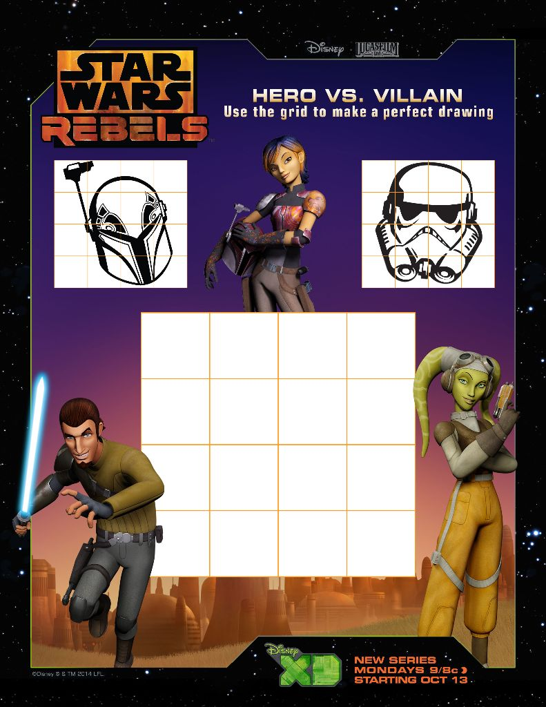star wars rebels printable Draw your Favorite Helmet