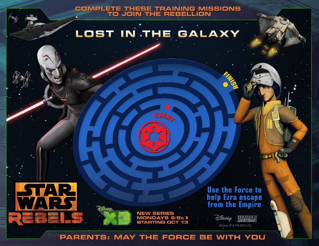 Galactic Maze  star wars rebels printable