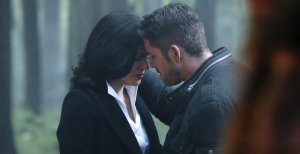 A sad goodbye between Regina and Robin Hood.