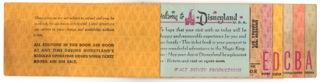 Disneyland original E-ticket book, complete