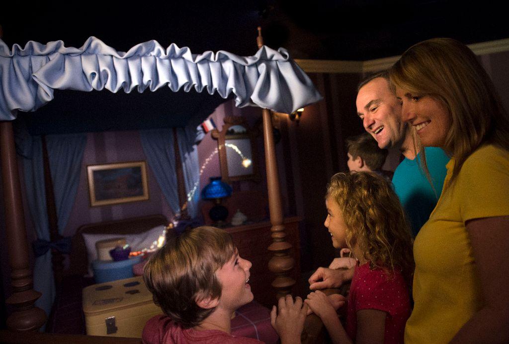 Interactive Queue at Peter Pan's Flight in Magic Kingdom