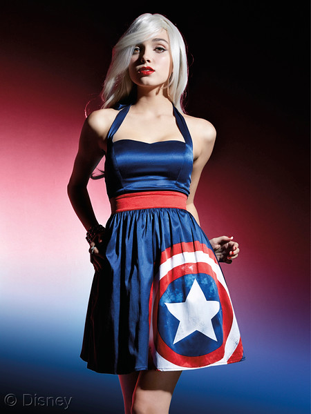 Her Universe Captain America Halter Dress