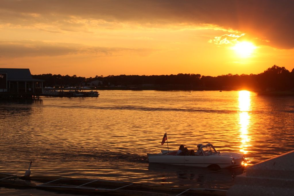 Sunset amphicar - wordless wednesday