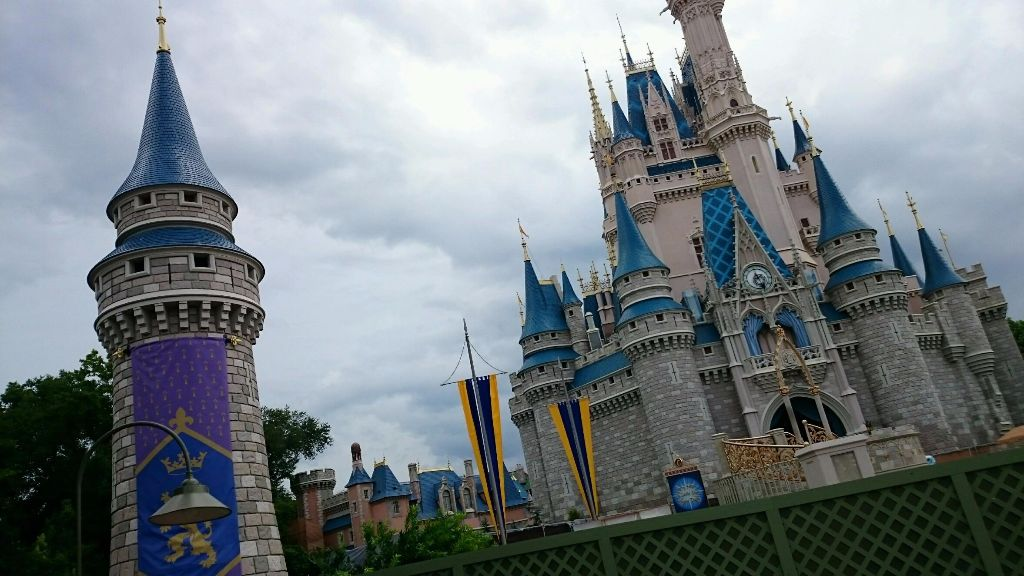 cinderella castle turrets wordless wednesday