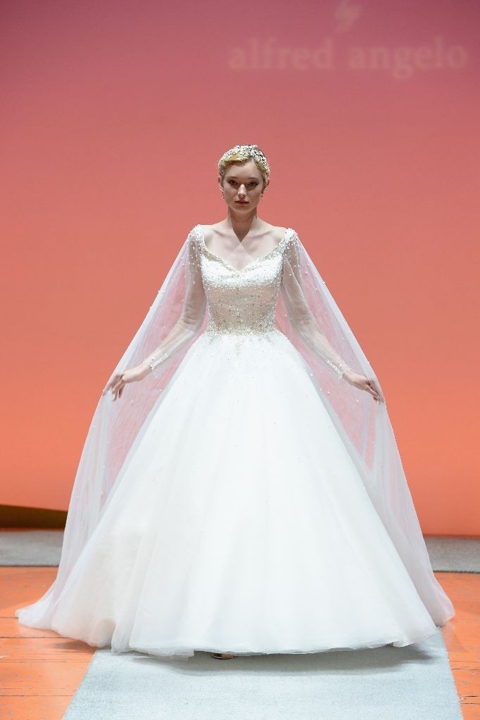 2016 Alfred Angelo Disney Fairy Tale Weddings Bridal Collection Fashion Show Debut Elsa