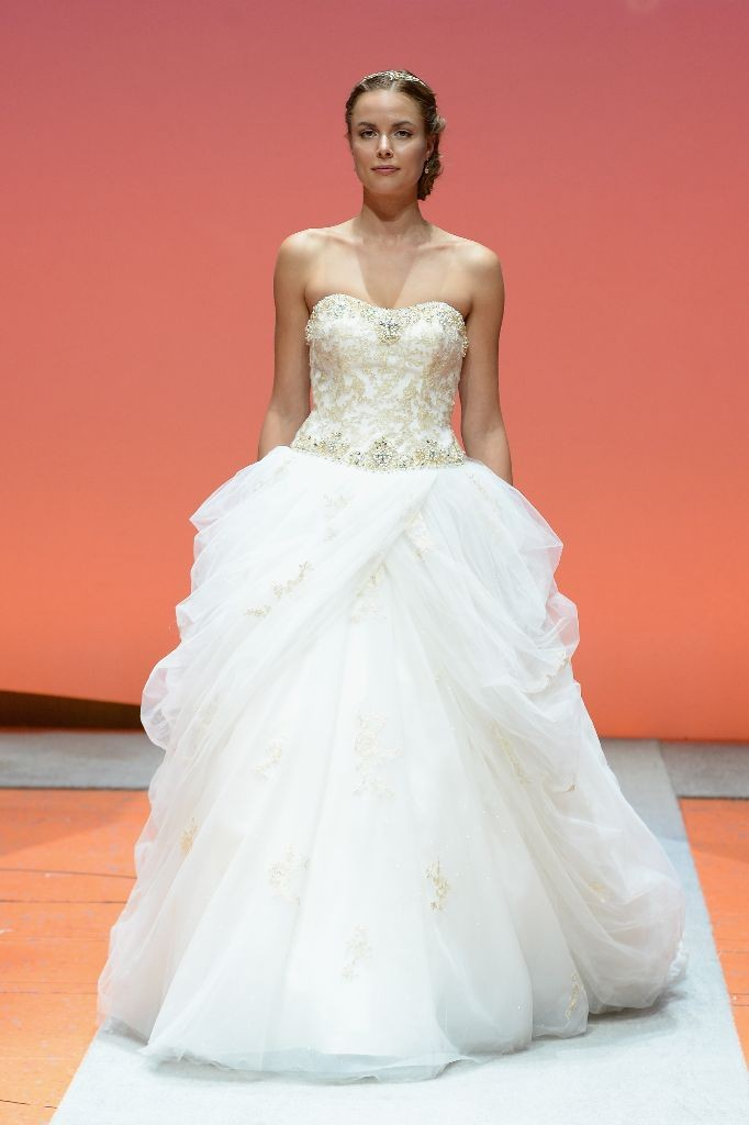 2016 Alfred Angelo Disney Fairy Tale Weddings Bridal Collection Fashion Show Debut Belle