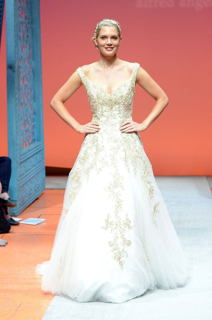2016 Alfred Angelo Disney Fairy Tale Weddings Bridal Collection Fashion Show Debut Rapunzel