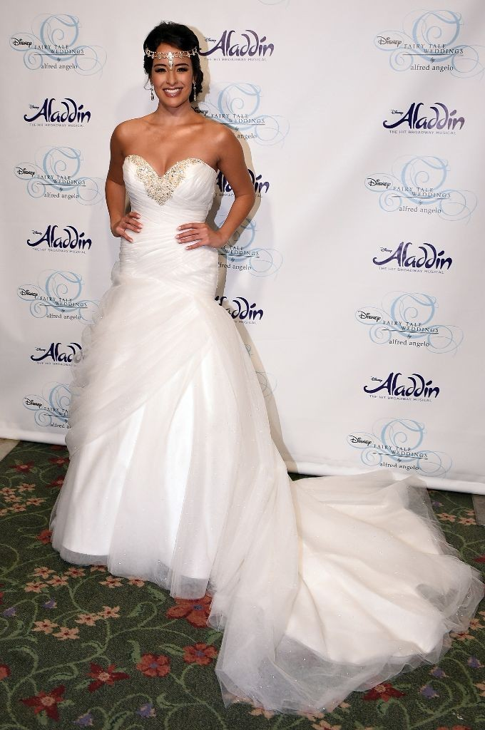 2016 Alfred Angelo Disney Fairy Tale Weddings Bridal Collection Fashion Show Debut Jasmine