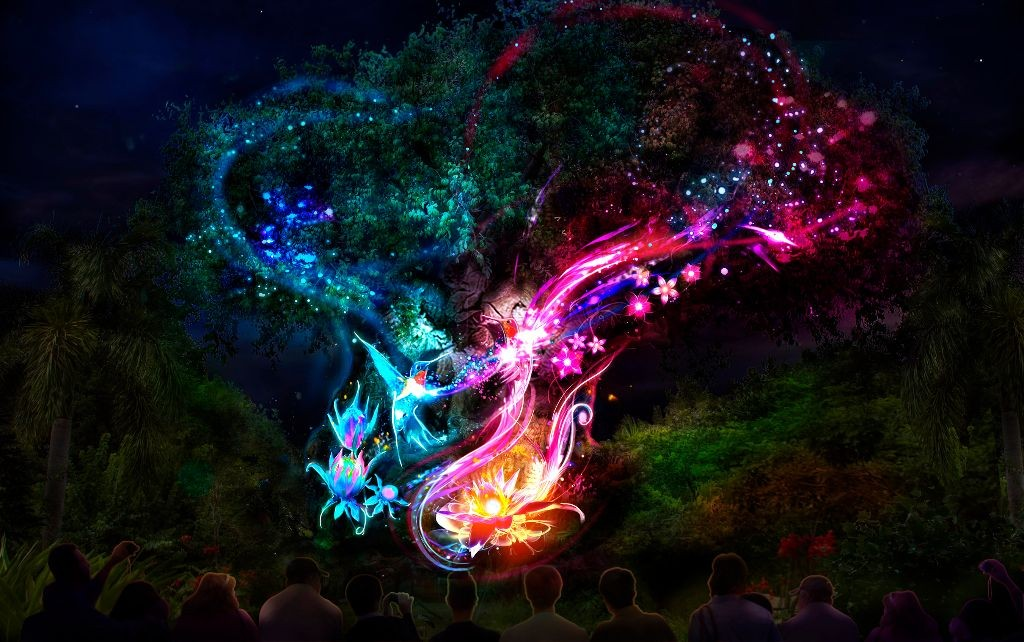 The Tree of Life at DisneyÕs Animal Kingdom -- Nighttime Artist Concept