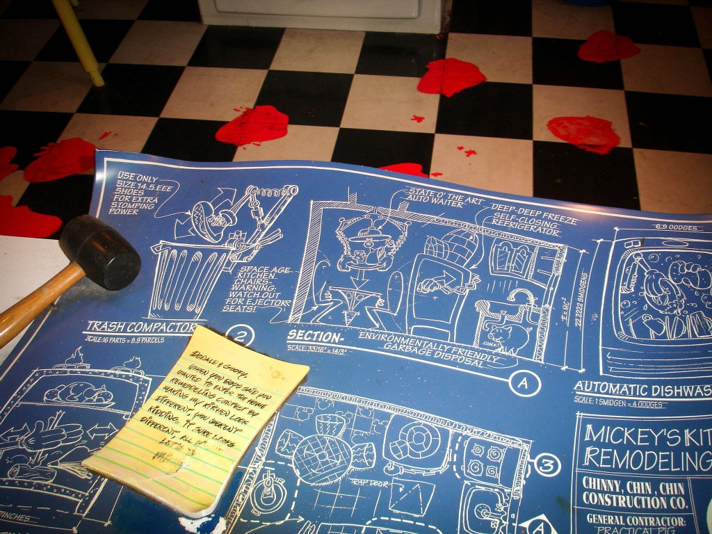 blueprints are a mainly a thing of the past - just like Mickey's House