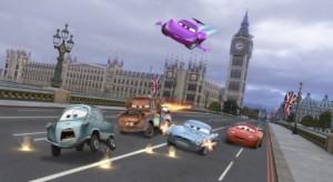 PROFESSOR ZUNDAPP, MATER, HOLLY SHIFTWELL, FINN MCMISSILE, LIGHTNING MCQUEEN - Cars 2