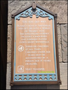frozen ever after warning sign