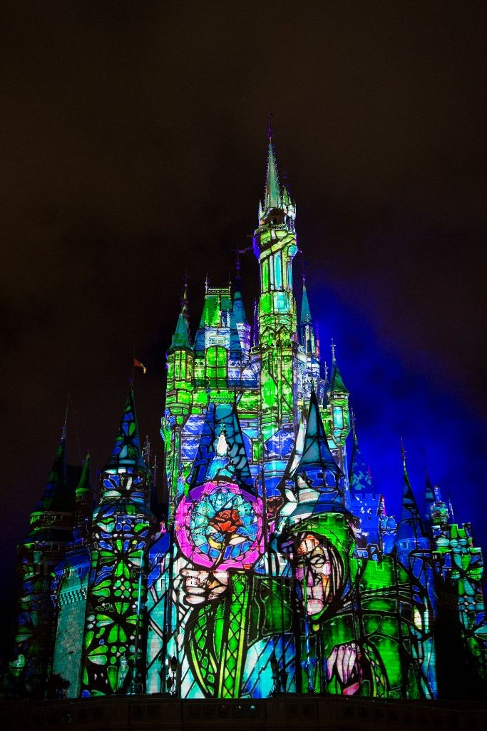 """projection show """"Once Upon a Time""""  magic kingdom"""