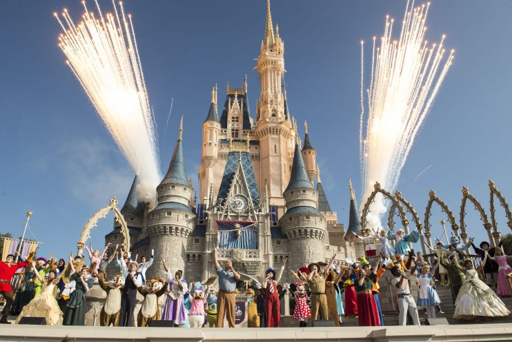 WDW 45 Anniversary Castle Stage