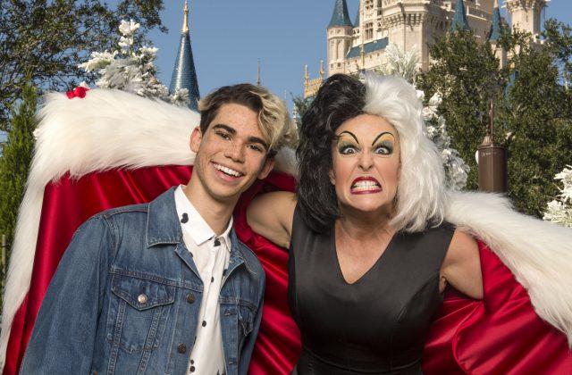 Cameron Boyce, Cruella DeVil Cinderella Castle, Disney Parks Christmas Celebration