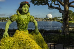 snow white flower garden festival spaceship earth