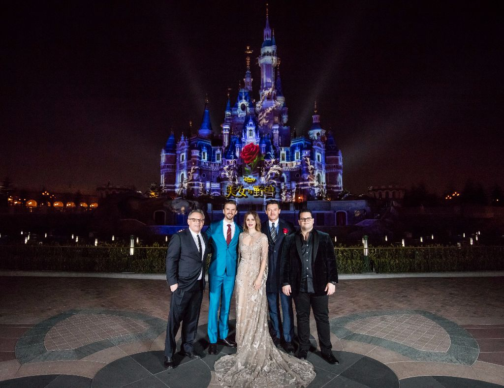 Beauty and the Beast Cast Shanghai Disneyland