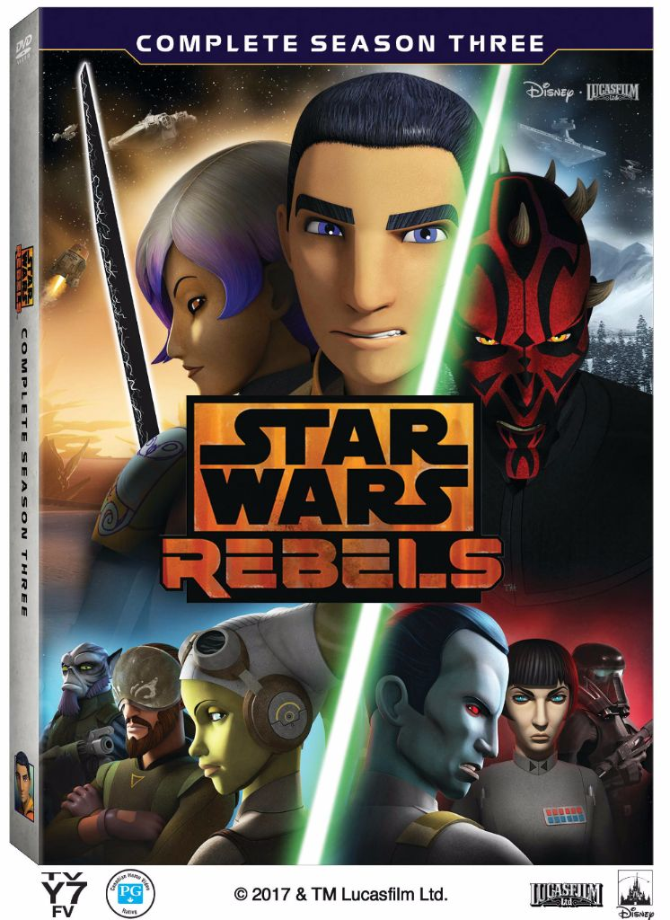 Star Wars Rebels Season 3 Blu-Ray DVD Package Shot