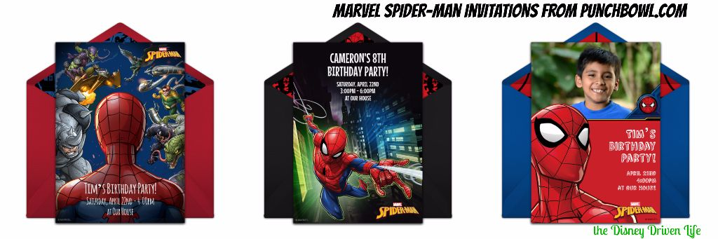 Marvel SpiderMan Punchbowl Invitations