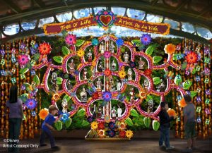Disneyland day of the dead cleebration tree of life