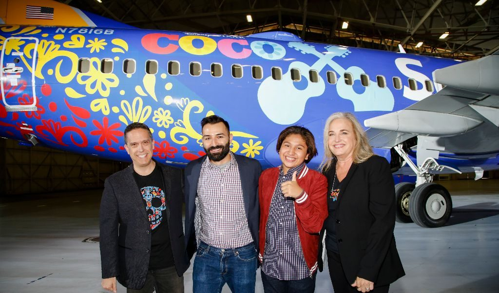 Coco plane. Southwest Airlines.
