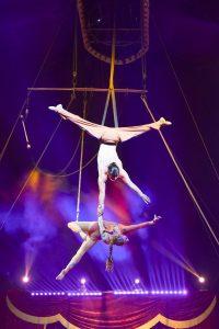 Circus 1492 Acrobat Man holding Woman Florida State Fair
