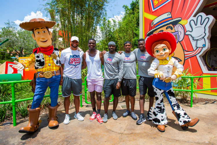 Dallas Cowboys QB Dak Prescott and Teammates Visit Toy Story Land Before Training Camp