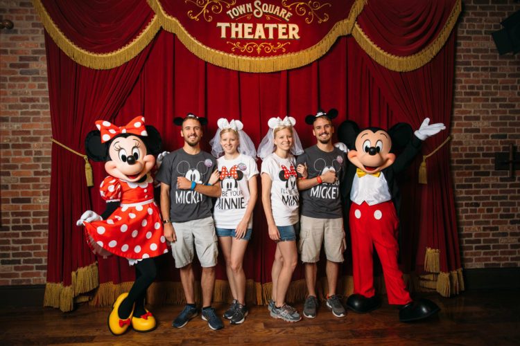 "Twin Newlywed Couples ""Twinning"" at Disney"