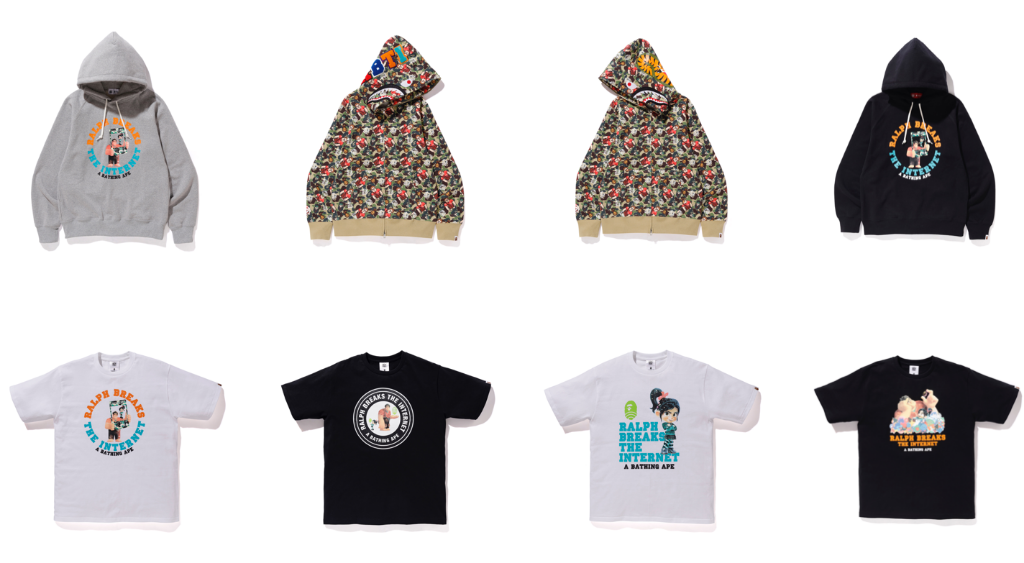 ralph breaks the internet bathing ape collection