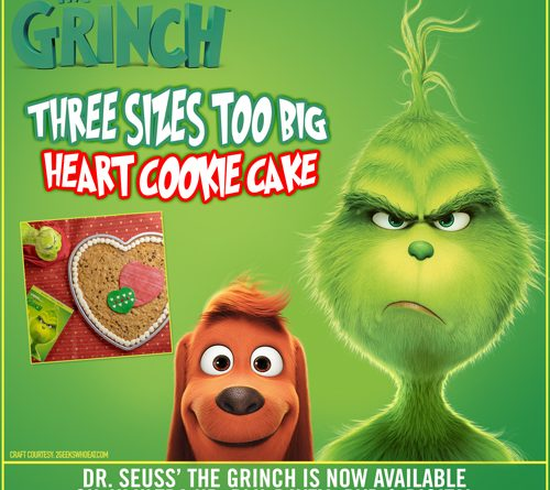 The grinch heart cookie