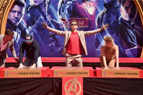 Avengers Endgame Handprint Ceremony