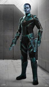 Captain Attlass Captain Marvel Kree character designs Ian Joyner