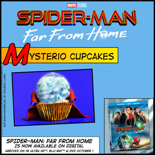 spiderman far from home mysterio cupcake