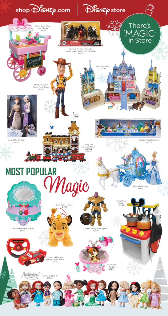 shopdisney Disney store 2019 holiday guide
