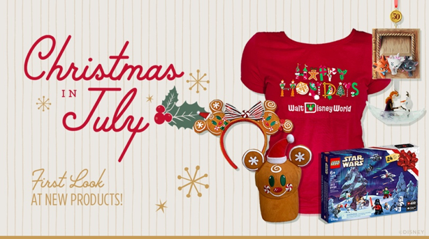 Christmas in July shopdisney