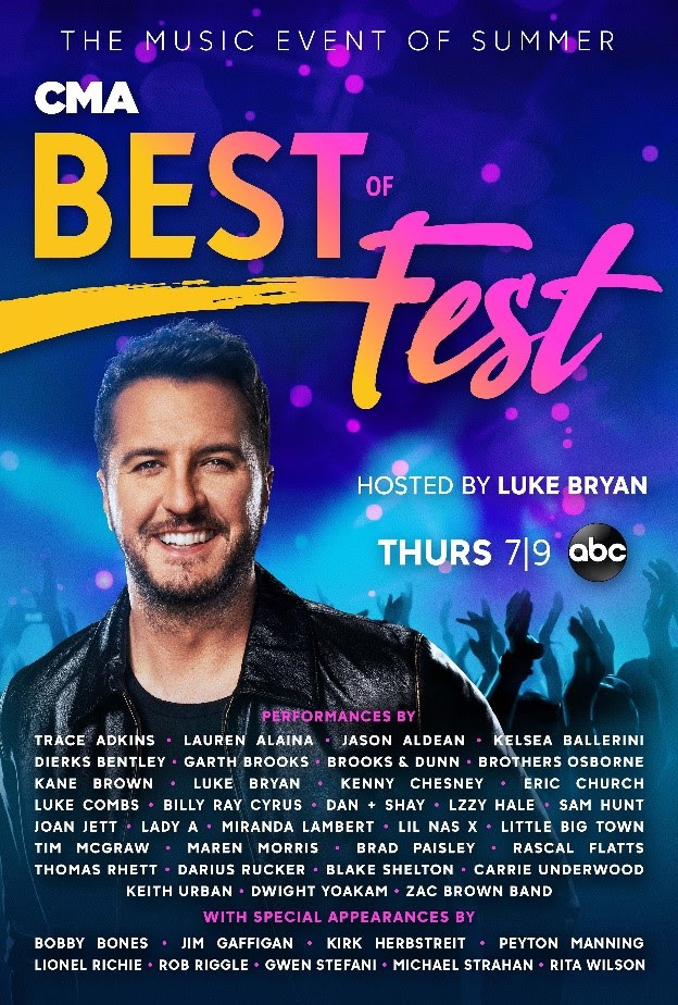 Get Ready for the Hottest Night of Country Music when 'CMA Best of Fest' Airs Thursday, July 9, on ABC