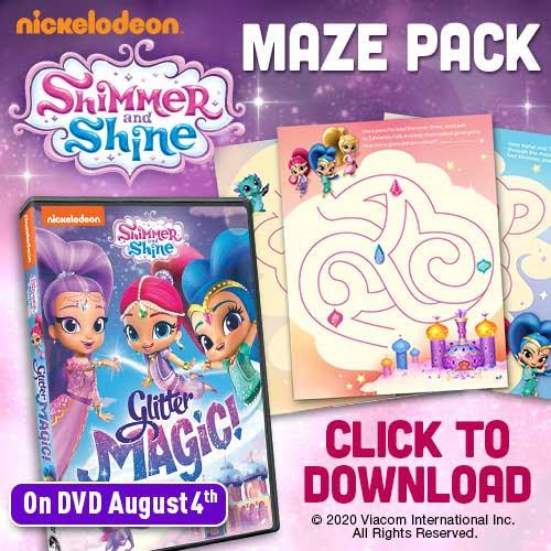 shimmer & shine maze pack
