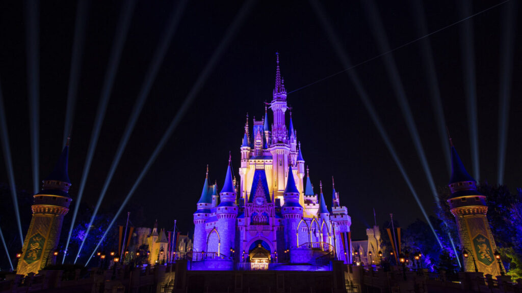 Cinderella Castle Celebrates NBA Champion Los Angeles Lakers