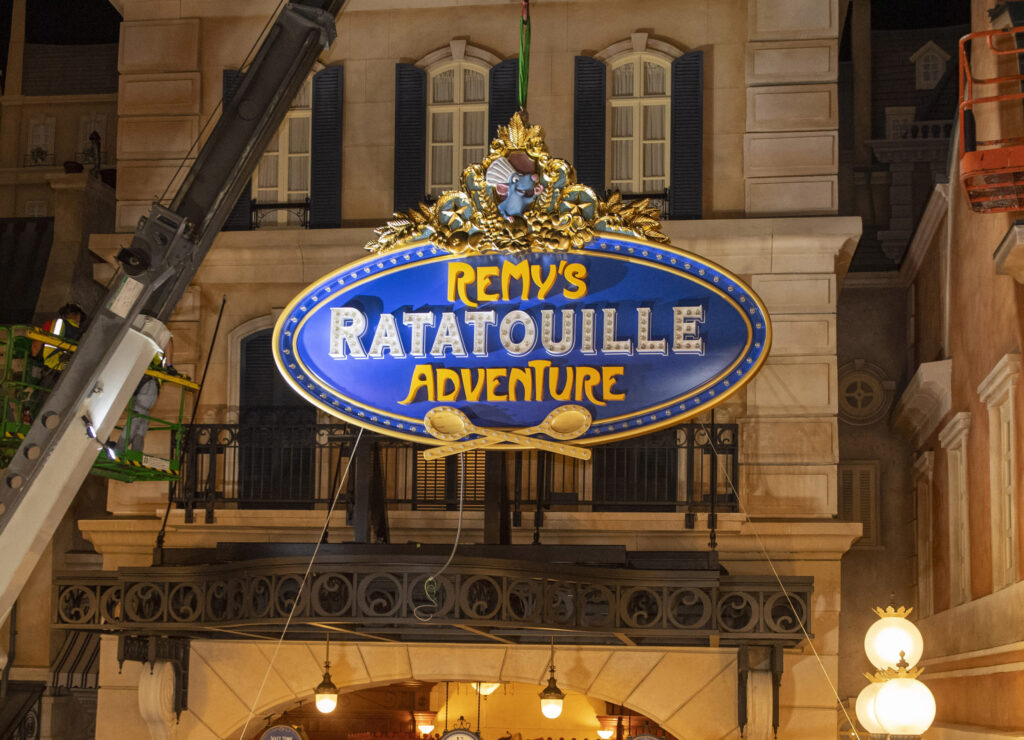 Remy's Ratatouille Adventure Marquee Install