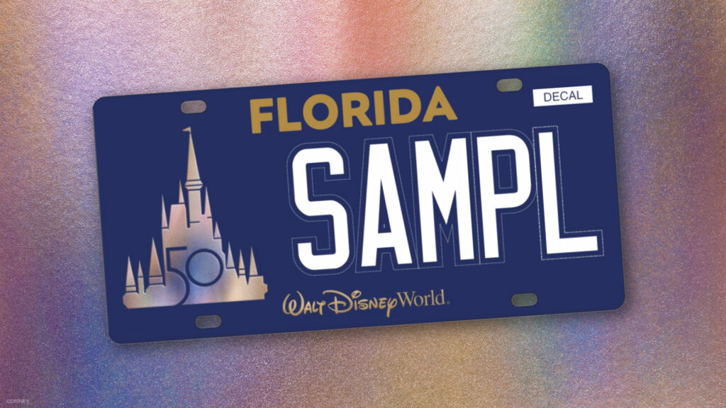 Walt Disney World license plate