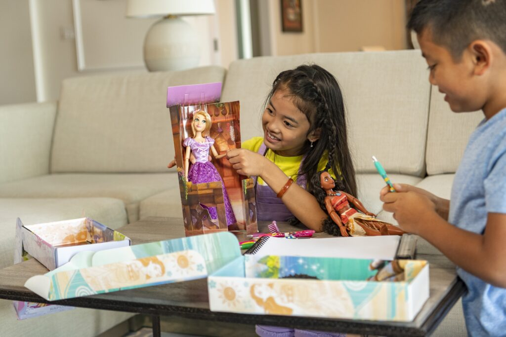 sustainable packaging disney princess dolls
