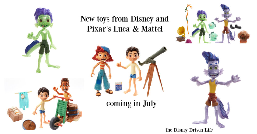 Disney and Pixar's Luca: Get a First Look at New Products from Mattel | the Disney Driven Life